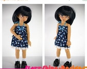 Sale 25% Off BJD YoSD 1/6 Doll clothing - Sundress with Blue Flowers