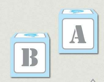 Blue Elephant Favor Boxes, Elephant Box, Elephant Baby Shower, Party Printable, Baby Shower Favor, Printable Favor Box, Small favor box