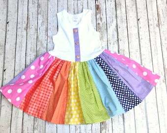 Rainbow Twirl Dress 2/3