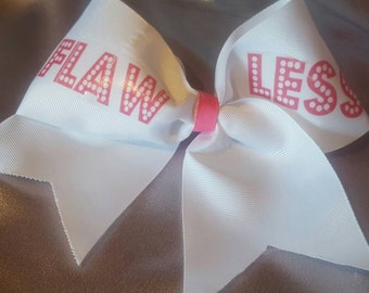 Beyoncé flawless cheer bow with Optional rhinestones