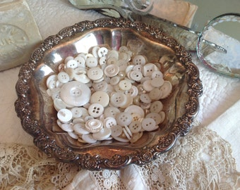 Vintage silver plated soap bowl with roses encircling the outer edge
