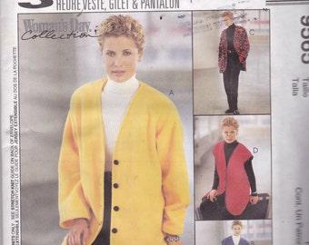 McCalls 9565 Vitage Pattern Womens Jacket, Vest, and Pants Size 8,10,12 UNCUT