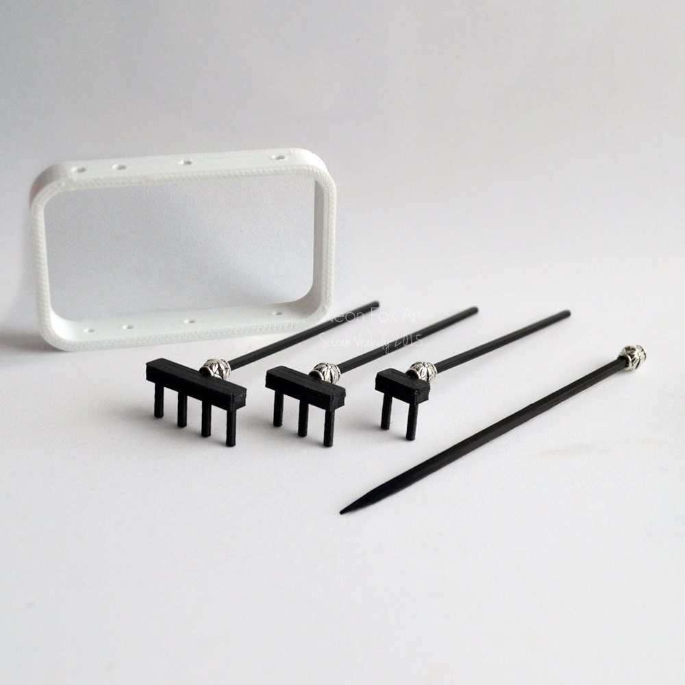 zen garden rake set mini zen garden miniature garden. Black Bedroom Furniture Sets. Home Design Ideas