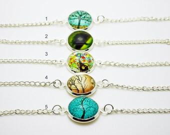 Tree cabochon bracelet