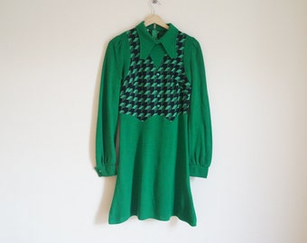 Vintage 1960s Dress / Vintage Green Dress