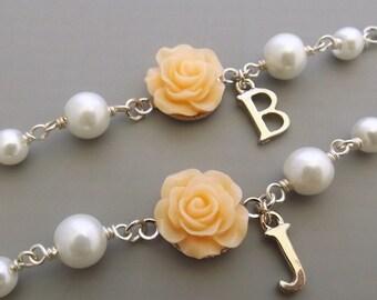 Childrens personalized bracelet, personalized flower girl bracelet, flower girl gift, flower girl jewelry,wedding jewelry, girls jewelry