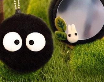 Totoro Dust Bunny Mirror Needle Felting DIY Kit