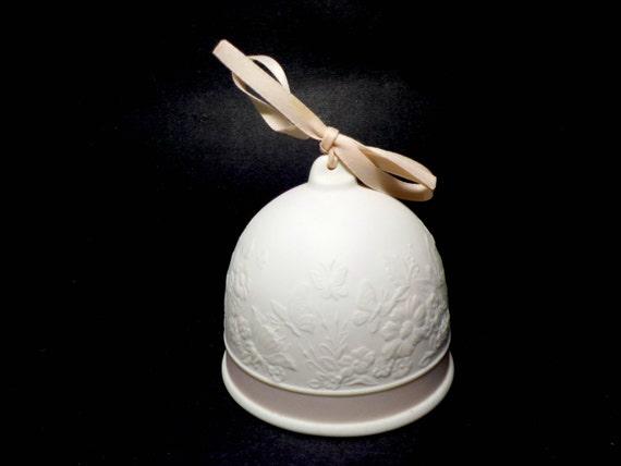 Lladro Spring Bell, 1991, Lladro Collectors Society Spring Bell, White Porcelain Bell, Lladro Collectible Bell