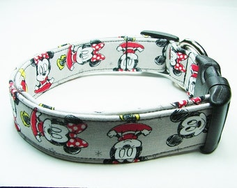 Minnie Mouse & Mickey Mouse Dog Collar