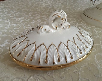 """Capidamonte tureen vegetable bowl cover only 9"""" long"""