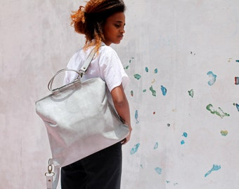 White leather backpack, Women backpack, leather bag, Leather handbag,Leather backpack, Women handbag, Handmade leather bag,Backpack handbag