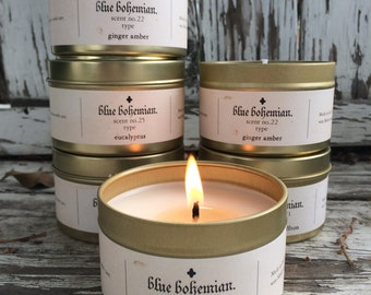 Bohemian Traveler Soy Candle / Handmade Candle /  Scented Candle - 4 oz. Candle / Candle Gift