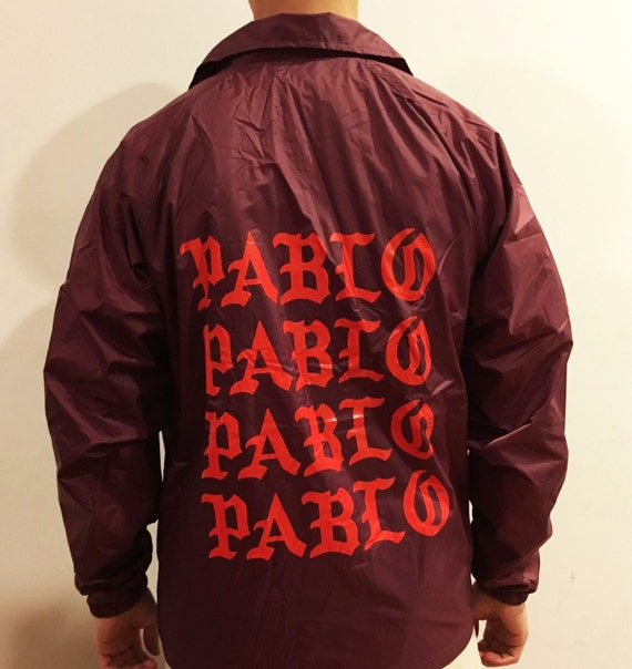 The life of pablo coaches jacket kanye west by thegoldenlabel for Life of pablo merch
