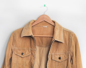 Camel/Beige Coloured Corduroy Jacket
