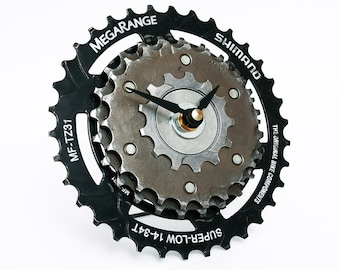 Shimano Bike Desk Clock, Bike Gear Clock, Steampunk Clock, Cycling Gifts, Bicycle table Clock, Bike Parts Clock, Gear Clock, unique clock