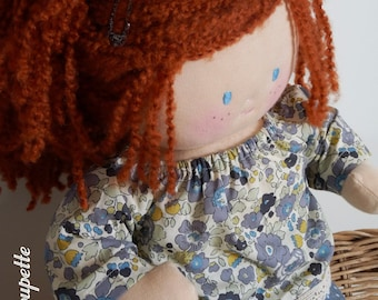 Maureen, 40 cm rag doll - baby - doll fabric - redhead doll - rag doll - baby doll - cloth doll - fabric doll