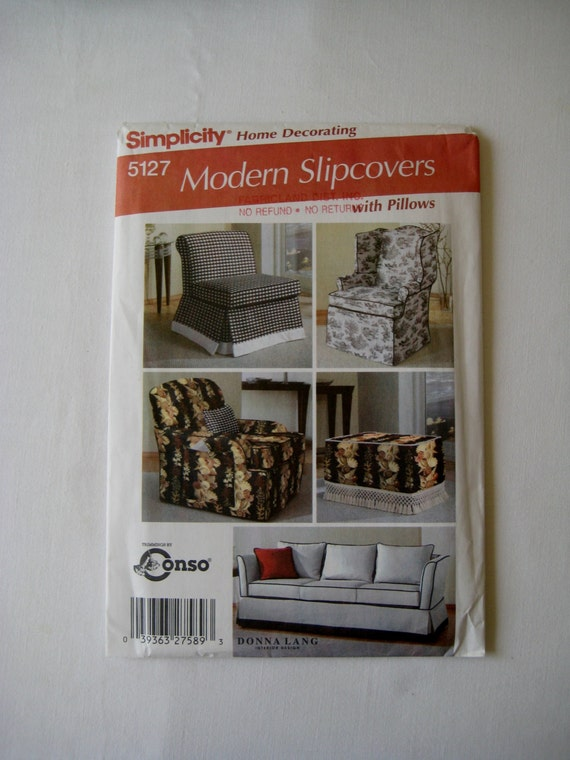 Simplicity 5127 Sewing Pattern Modern Slipcovers By
