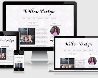 Stylish Premade Blogger Template, Responsive Blogger, Premade Blogger Template, Floral Blogger Theme, Simple Blogger Theme, Pretty Blog