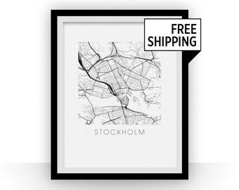 Stockholm Map Print