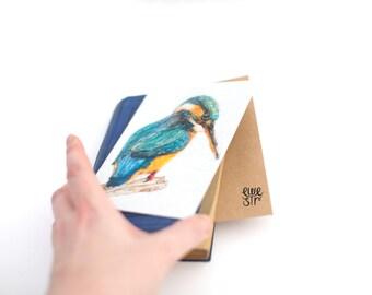 Kingfisher card, card for him, wildlife card ,