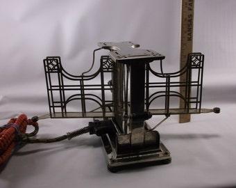 "Antique Art Deco Landers, Frary & Clark ""UNIVERSAL"" Swivel-Swing Arm Toaster.# E-9499 epsteam"
