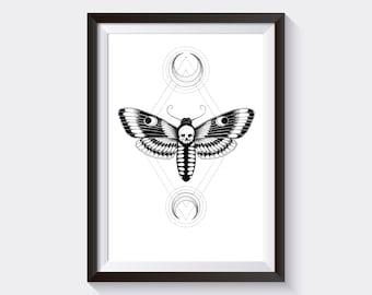 Moth - A5 Print