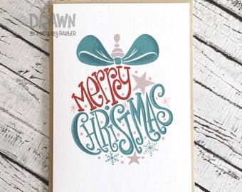 "Christmas Holiday Cards: ""Merry Christmas"" Ornament"