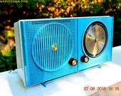 BLUETOOTH MP3 READY - Sky Blue Beauty Mid Century Retro 1962 Motorola Model A23B Tube AM Radio Totally Restored!