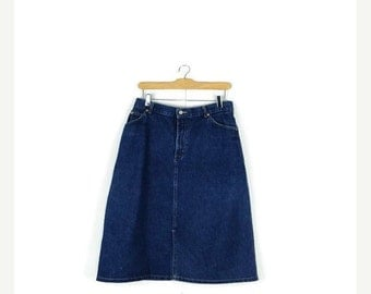 STORE WIDE SALE Vintage Lee  Denim Skirt from 1980's/W29*