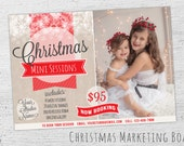 Holiday Mini Session Template, Christmas Mini Session Template, Chrstmas Marketing, Photoshop Template, Photography Session, Photographer
