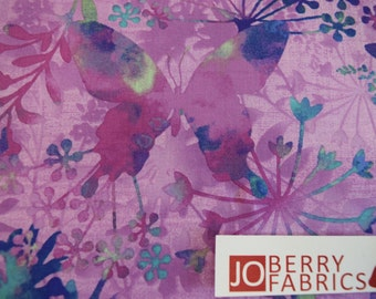 Butterfly Fabric, Mariposa Meadow by Jennifer Brinley, for Studio E, Quilt or Craft Fabric, Fabric by the Yard.