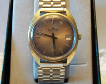 Vintage Antimagnetic Bucherer Watch 1970s 1980s Water proof Watch Stainless Steel Back Speidel Band