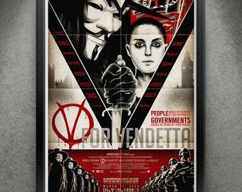 """V For Vendetta - """"Freedom Forever"""" 13x19"""