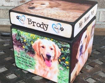 Pet Urn, Personalized pet urn, Dog Pet Urn, Size Medium