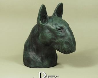 New PERITAS Florence Collection hand painted English Bull Terrier Bully dog fine art sculpture statue Бультерьер ブル・テリア