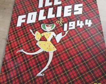 Great 1944 program and publication of Shipstad and Johnson Ice Follies - Estate find!