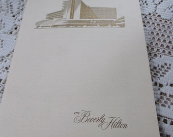 Vintage 1962 Beverly Hilton Menu and Opera Fard table cards - Estate find!