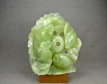 Unique Housewarming Gift Natural Green Jade Fish Statues Personalized Decor Home Interior Design Ideas