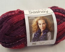 Red Heart Boutique Sashay Yarn Maroon Purple - 1 Ball Tango 30 Yards
