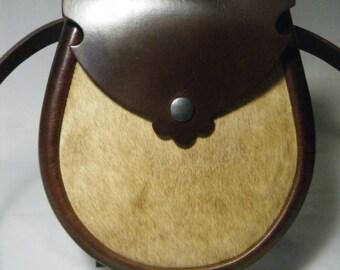 Handmade Brown Hair on Leather Earn Sporran