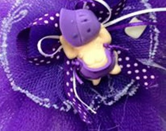 12 Purple Baby Girl Baby Shower Capia Favor Corsage Chest Favors