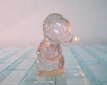 Disney Bambi Flower Skunk Figurine Clear Plastic / Lucite Authentic Vintage Disney - RARE