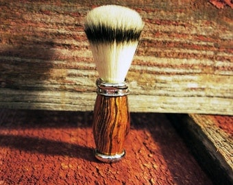 Shaving brush in Sustainable Rosewood A1 FIRST QUALITY Silver Tip. Handmade Shaving and Grooming Gifts for him