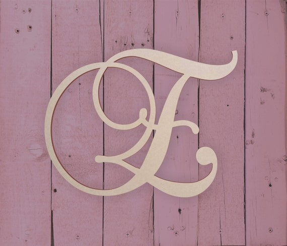 large monogram letters wooden monogram letter e large or small 22692
