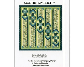"Pattern ""Modern Simplicity"" Quilt Pattern by QuiltWoman.com (QUWBS2-410) Paper Pattern"