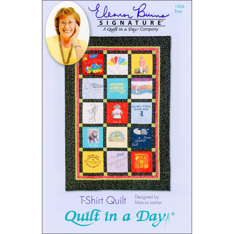 T-shirt quilt design instructions - Pattern T Shirt Quilt By Quilt In A Day 1256 Paper Pattern Instructions