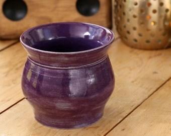 Eggplant Purple Stoneware Ceramic Vase
