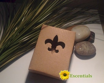Kraft Fleur De Lis Cut Out Soap Box - 5 Pack