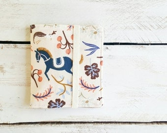 Mini Cotton Wallet, Bifold Wallet, Small Wallet, Carousel in Blush by Rifle Paper Co