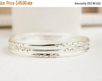 Silver Bangles, Silver Bracelet, Silver Jewelry, Everyday Jewelry
